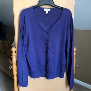 Long sleeve Navy blue cardigan